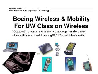 Boeing Wireless & Mobility For UW Class on Wireless