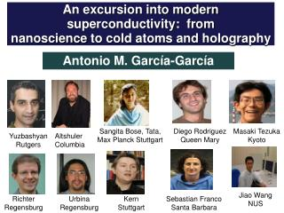 An excursion into modern superconductivity:  from nanoscience  to cold atoms and holography