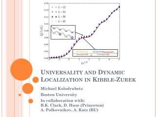 Universality and Dynamic Localization in  Kibble- Zurek