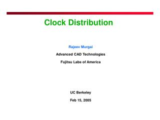 Clock Distribution