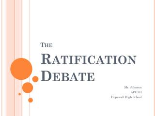 The  Ratification Debate