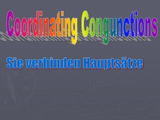 Coordinating Congunctions