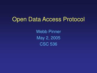 Open Data Access Protocol