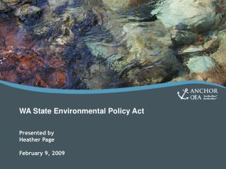 WA State Environmental Policy Act