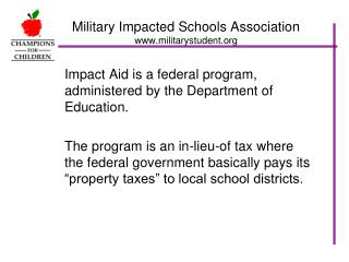 Military Impacted Schools Association militarystudent