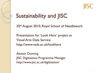 Sustainability and JISC