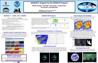 McIDAS-V Support for the GOES-R Program
