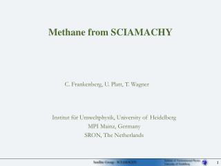 Methane from SCIAMACHY