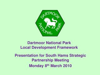 Dartmoor National Park Local Development Framework