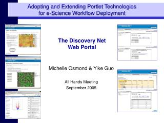 Adopting and Extending Portlet Technologies for e-Science Workflow Deployment