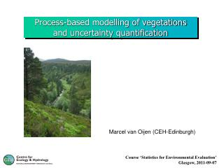 Process-based modelling of vegetations and uncertainty quantification