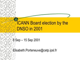ICANN Board election by the DNSO in 2001