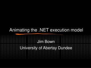 Animating the .NET execution model