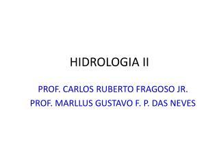 HIDROLOGIA II