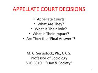 APPELLATE COURT DECISIONS