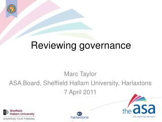 Reviewing governance