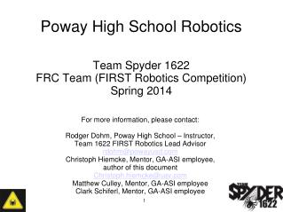 Poway High School Robotics