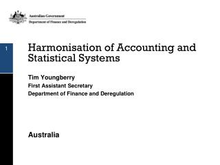 Harmonisation of Accounting and  Statistical Systems