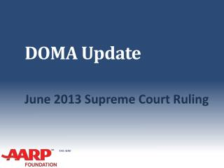 DOMA Update