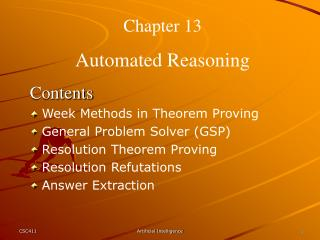 Chapter 13 Automated Reasoning