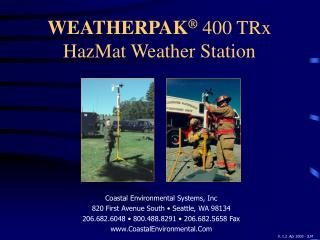 WEATHERPAK ®  400 TRx HazMat Weather Station