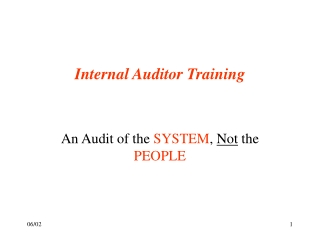 The Future of Internal Auditing