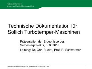 Technische Dokumentation für Sollich Turbotemper-Maschinen
