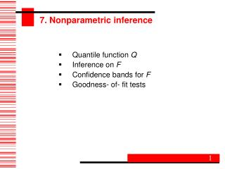 7. Nonparametric inference
