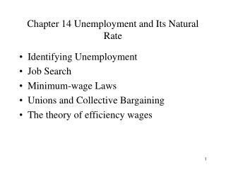 Chapter 14 Unemployment and Its Natural Rate