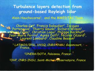 Turbulence layers detection from ground-based Rayleigh lidar