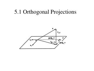 5.1 Orthogonal Projections