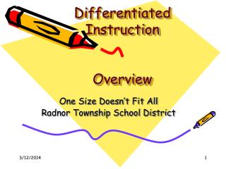 Differentiated  Instruction Overview