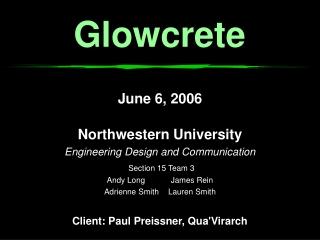 Glowcrete