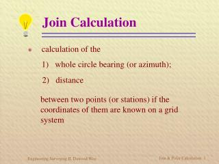 Join Calculation