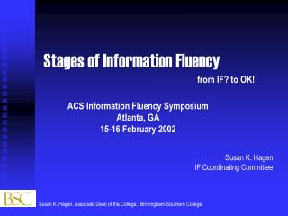Stages of Information Fluency