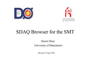 SDAQ Browser for the SMT