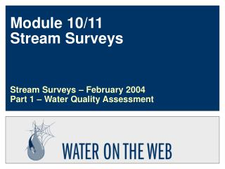 Module 10/11 Stream Surveys