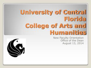 University of Central Florida College of Arts and Humanities