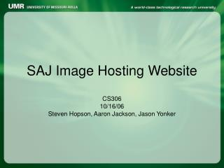 SAJ Image Hosting Website