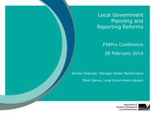Local Government Planning and Reporting Reforms