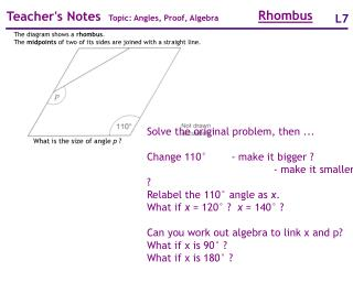 What is the size of angle p ?