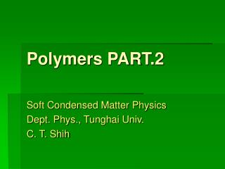 Polymers PART.2