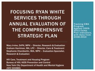 Focusing Ryan White services through annual evaluation of the Comprehensive Strategic Plan