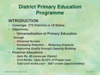 District Primary Education Programme