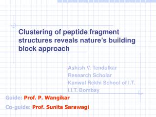 Clustering of peptide fragment structures reveals nature's building block approach