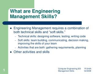 What are Engineering Management Skills?