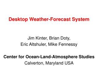 Desktop Weather-Forecast System