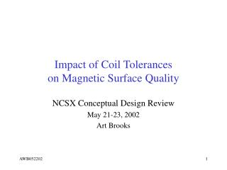 Impact of Coil Tolerances on Magnetic Surface Quality