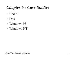 Chapter 6 : Case Studies