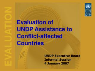 Evaluation of  UNDP Assistance to  Conflict-affected Countries
